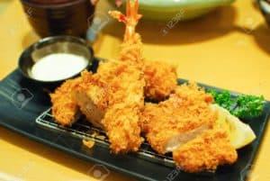 Japanese food fried