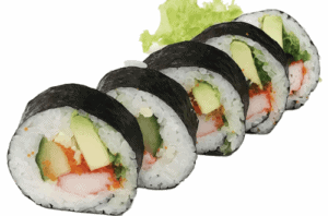 Sushi, These largest of maki rolls usually get cut thinner slides