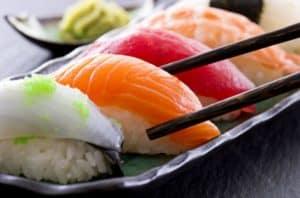 Nigiri Sushi (fish on rice)