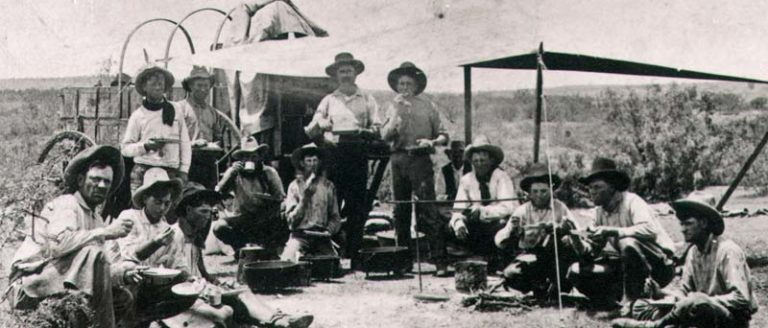 cowboys with dutch oven