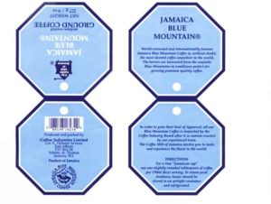 official label blue mountain certificate from C I L