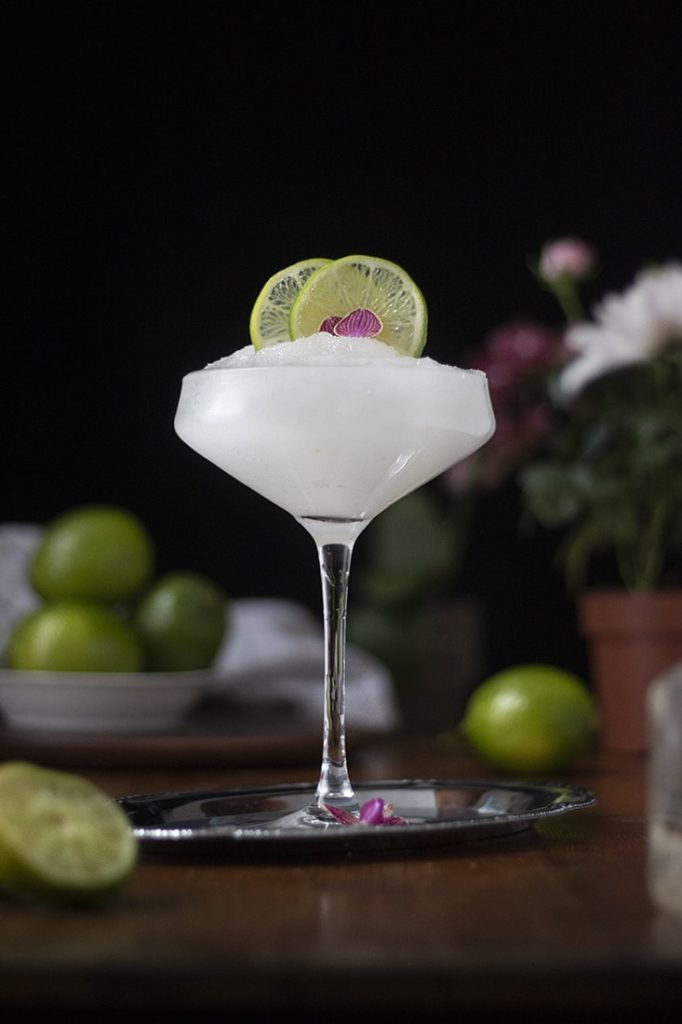 Frozen margarita cocktail mixed drink