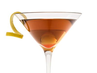 manhattan cocktail mixed drink